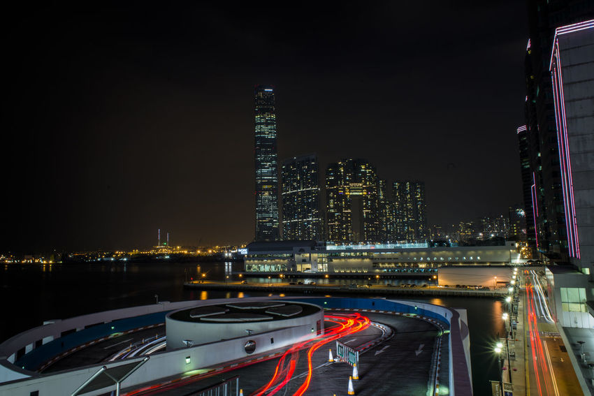 Architecture Building Exterior Built Structure Capital Cities  City Cityscape Connection Crowded Development HongKong Long Exposure Modern Office Building Skyline Skyscraper Speed Tall Tall - High Tower The Architect - 2016 EyeEm Awards