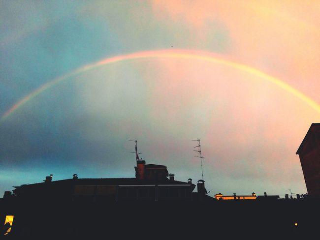Rainbow Multi Colored Sky Over The Rainbow Colourful Sky