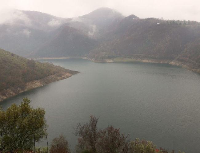 Fog Foggy Lago Del Turano Lake Landscape Scenery Scenics Tranquil Scene