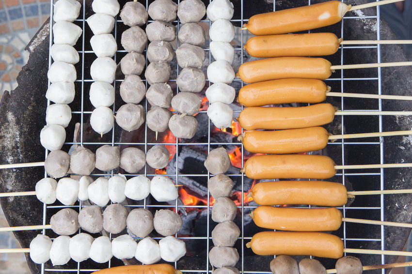 party ready to eat Barbecue Barbecue Grill Burning Close-up Day Flame Food Food And Drink Freshness Grilled Healthy Eating Meat No People Outdoors Preparation  Preparing Food