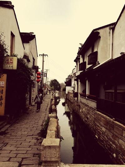 April 2015. Suzhou China PIngjiang Road Canal Walking Around Chinese Walking Around The City  Old Buildings Ancient Ancient Architecture