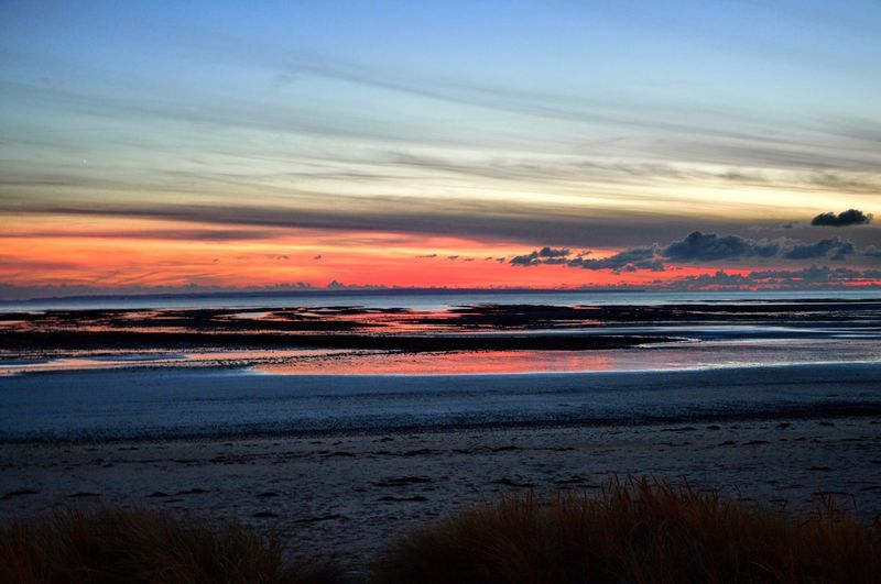 Sea Horizon Over Water Scenics Sunset Wave Tranquil Scene