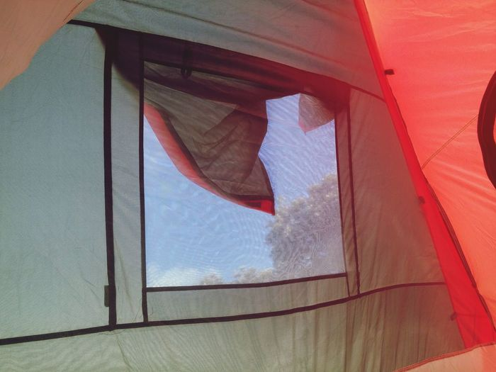 A tent with a viewFlying High Window Red Close-up No People Day Backgrounds Indoors  Camping Blue Sky Hiding In The Shade Tent Inside A Tent New Zealand Summers New Zealand My Slice Of Heaven Happy In The Sun Atmospheric Mood Outdoors Summer NZ Style Mobile Conversations Relaxation Peacefulness My Idea Of Bliss Home Is Where The Heart Is