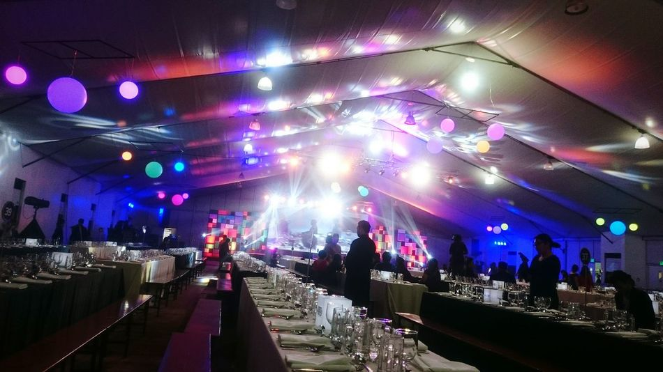 Holiday party Philippines Circles Brightlights Longtable Holidayparty EyEmNewHere Nightlights Illuminated Music Lighting Equipment Night Enjoyment Stage Light Multi Colored EyeEmNewHere