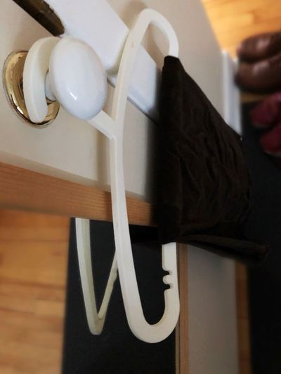 Door Handle Shoes Morning Dressing Hanger Ready To Wear Hanging Clothes Indoors  Close-up Day