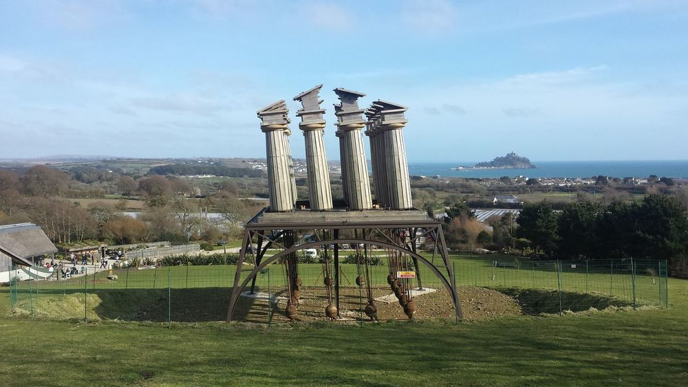 Architecture Art Building Exterior Built Structure Columns Cornwall Day Garden Greek Sculpture Landscape Nature Outdoors Penzance  Sculpture Sea Sky Sky And Clouds St Michaels Mount Tree