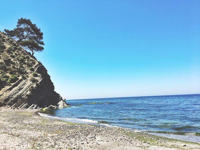 Sea Deniz Sea And Sky Landscape Gokyuzu Mavi Blue Waves Peaceful Silence Huzur Picoftheday Turkey Tirilye