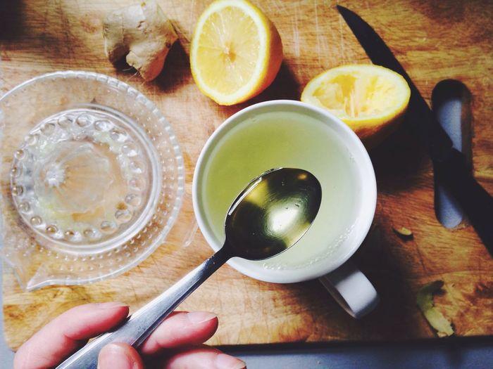 Preventing Unwanted Autumn Colds Fresh Ginger Lemon Acaciahoney Hot Drink