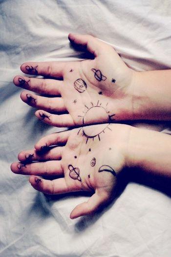 Hand Space Stars Body