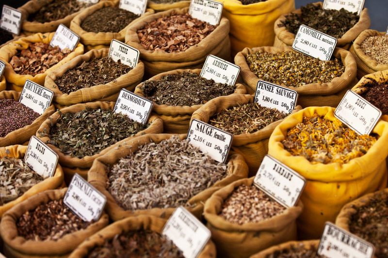 Various spices at market stall Food Food And Drink For Sale Ingredient Local Market Market Market Stall Oriental Market Spices Spicy Food