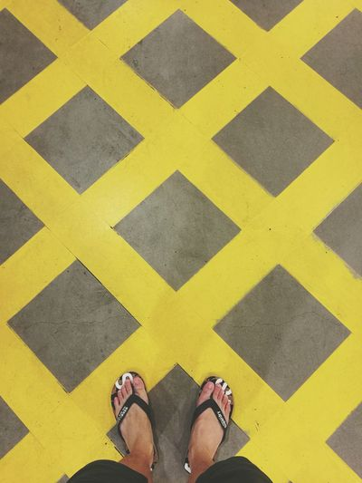 Exploring Style Standing Yellow Outdoors Grid People Carpark IKEA Superdry