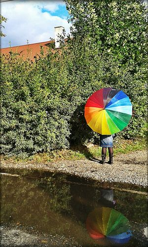 Waiting Hometown Colorful Autumn Rainbow From My Point Of View Poland Zurawica Sunshine