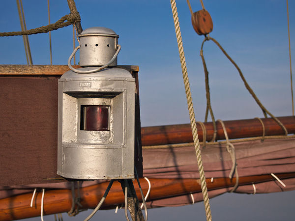 Detail of a windjammer Close-up Day Lantern Low Angle View Maritime Mast Metal Nautical No People Outdoors Rope Sailing Ship Sky Tall Ship Tall Ship Windjammer