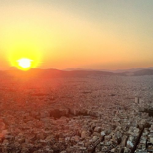 Lycabettus Hill Athens Greece Sunset Beautifuldestinations