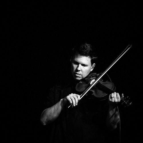 Musician at Sammy Kershaw's concert. Art Culture And Entertainment Black & White Black Background Concert Concert Photography Dark Lifestyles Musician Night Portrait Violonist