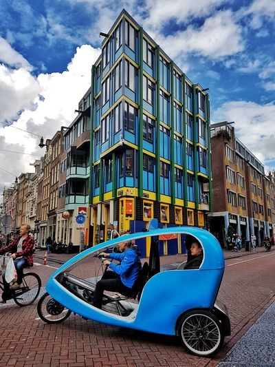 colourful day in Amsterdam. Amsterdam Colourful Always Blue City Blue Town Square