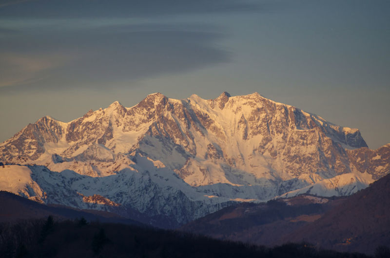 Monte rosa in sunset in Ticino, Switzerland. Beauty In Nature Cloud - Sky Cold Temperature Covering Famous Place Idyllic Landscape Majestic Monte Rosa Mountain Mountain Range Nature No People Outdoors Power In Nature Scenics Season  Sky Snow Snowcapped Mountain Sunset Swiss Alps Tranquil Scene Tranquility Travel Destinations