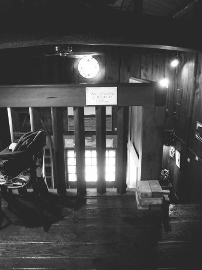 Secondfloor Coffee Time Coffeehouse Coffee Break Black And White Coffee 2階から下を見た