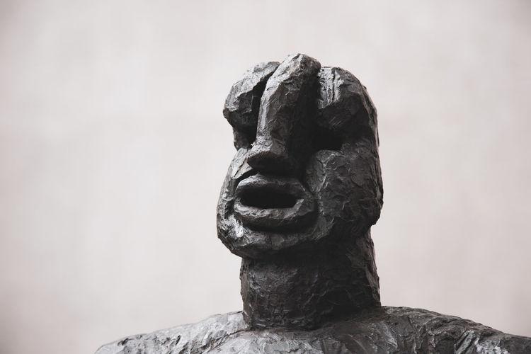 Monumento al labio grueso y la nariz aguileña Close-up Human Representation Representation Sculpture Solid Statue Stone Material