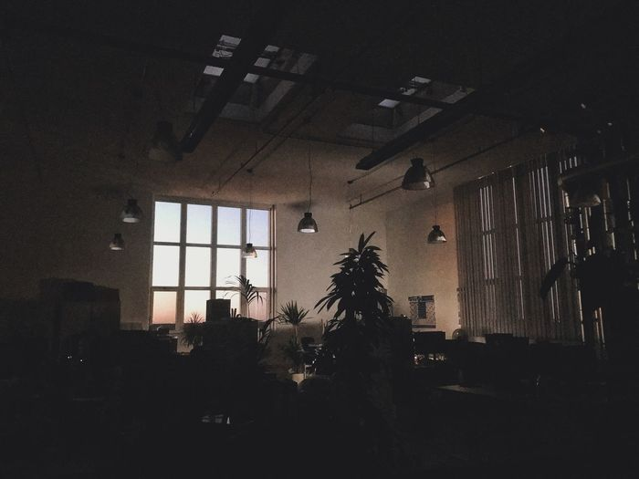 Last one leaving. Dawn Work Work Space Closing Time After Work Office Architecture Built Structure Window Silhouette Indoors  Tree Glass - Material Building Dark No People Night Ceiling HUAWEI Photo Award: After Dark