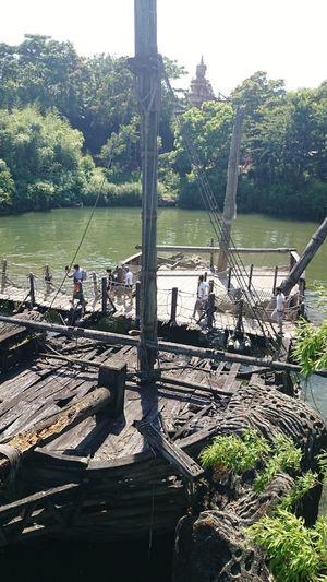Amusement Park Rope Bridge Disneyland Paris Tree Water Nautical Vessel Working Sky Fishing Net