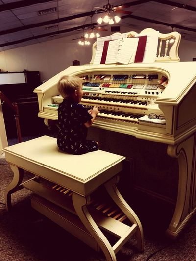 The Little Organist Little Boy Organist Kids Are Awesome Kids Being Kids Future Musician Church Organ Musical Instrument Music Musician Music Kids