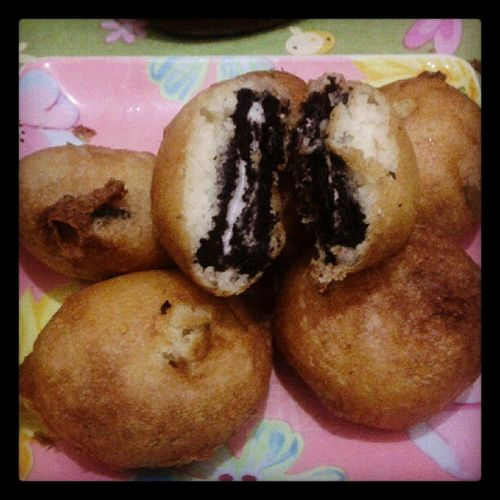 Wicked oreo :) Dessert Sweets Friedoreo Wickedoreo yummy @japsgrande