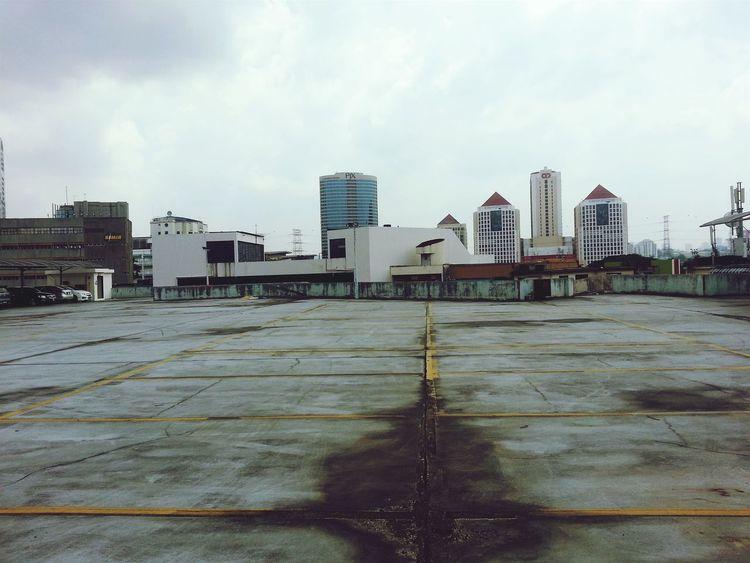 Carpark Empty Overcast Decrepit