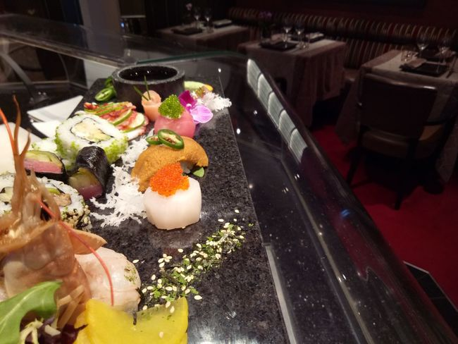 Food High Angle View Indoors  Food And Drink Freshness No People Egg Yolk Ready-to-eat Day sushi sashimi presentation Healthy Eating Asian Food Japanese Food Refraction Food And Drink