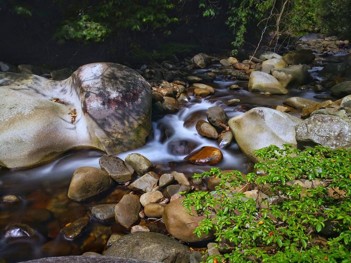 Water Rock - Object Hot Spring Waterfall Moss Surf Flowing Water Rock Tide Stream Falling Water Long Exposure Coast Stone - Object Splashing Power In Nature Flowing Pebble Rushing Growing Wave Stream - Flowing Water Lichen