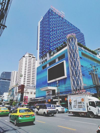 building in bangkok city Architecture Building Exterior Building Tower Metropolis Bangkok Thailand Traffic Life Hotel Trade Center City Life City Life Tall - High Tall City Modern Skyscraper Car Cityscape Sky Architecture Building Exterior Yellow Taxi Traffic Jam Taxi Billboard Office Building Commercial Sign