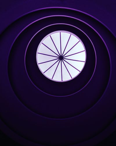 purple eye Eye EyeEm Gallery Eye4photography  Concentric Circle Close-up Spiral Staircase Geometric Shape Skylight Steps And Staircases Architectural Design Directly Below Stairway Cupola