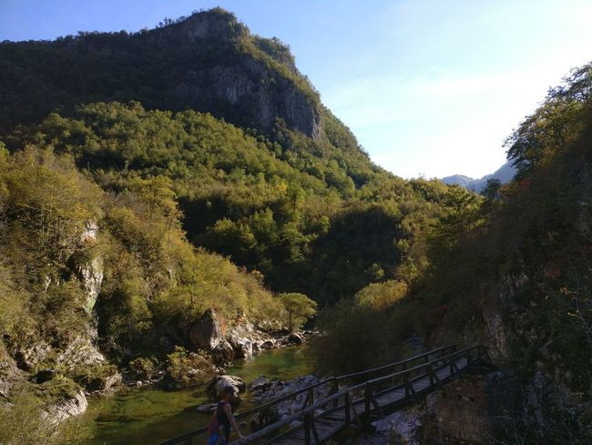 Nature Mountain Beauty In Nature Landscape Scenics Outdoors Sky Day Bridge Over Water Adventure Montenegro Hiking Soft Colors
