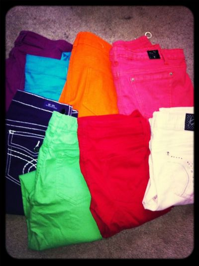 Colored Jeans (: