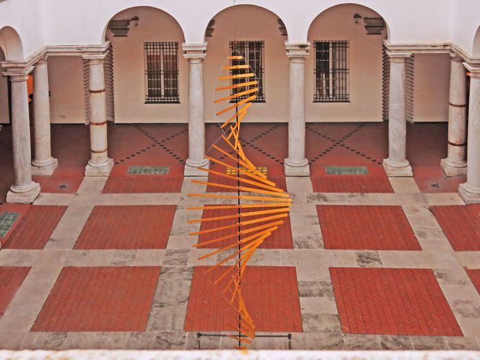 Arch Architecture Art ArtWork Brick Brick Floor Built Structure Columns Courtyard  Courtyard View Cultures Day Genoa Genoa, Italy, Europe, Liguria Genova Installation Art No People Outdoors Palazzo Ducale Squares Symmetry