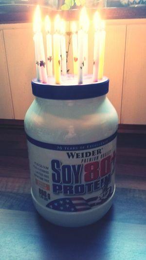 Protein Proteinshake Birthday Cake ... Motivation Bodybuilding Inspiration Fitness