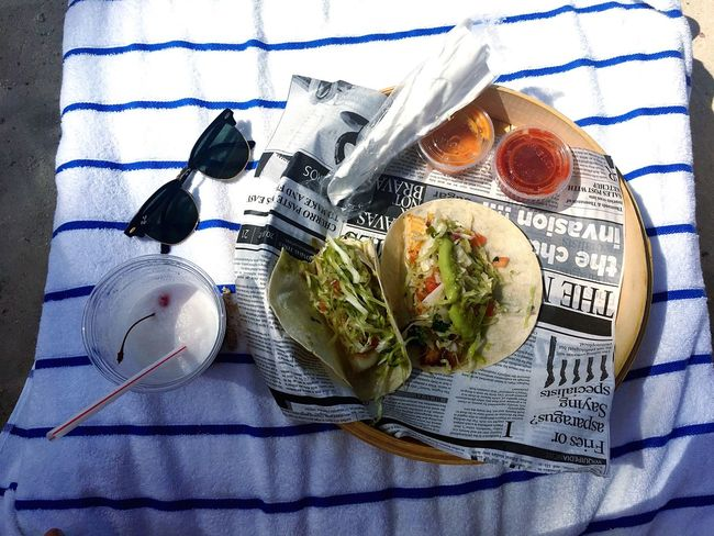 beach food Fish Tacos Beach Ray Ban Aruba