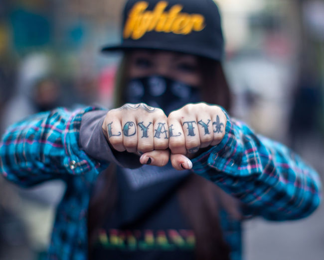 LOYALTY... California Female Artist Girl Power Plaid Shirt  Pretty Girls Tattooed Bokeh Boogierez Casual Clothing Focus On Foreground Girls With Ink Graffiti Artist Illvisuals Murals And Girls Outdoors Resones Urban Young Adult