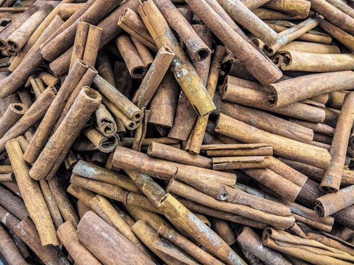 Full frame shot of cinnamons
