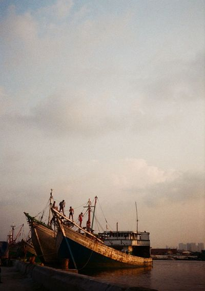 Sunda kelapa port Film Film Photography Port EyeEmNewHere Nautical Vessel Transportation Water Mode Of Transport Sky Cloud - Sky Nature Sunset Tall Ship Beauty In Nature Scenics No People Waterfront Outdoors Sea Day