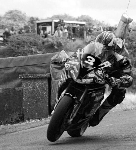 Black & White image of race bike taking part in race of Legends 2016 Armoy Motorbikes Motorcycle Photography Northern Ireland Racebike Racing Road Racing Transportation