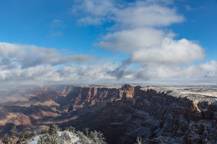 Winter Beauty In Nature Canyon Cloud - Sky Day Environment Landscape Mountain Nature Outdoors Scenics - Nature Sky Snow Tranquil Scene Tranquility First Eyeem Photo