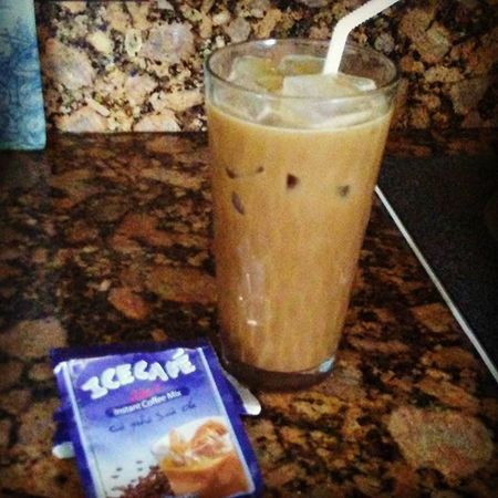 Vietnamese iced coffee bought in Neworleans . Nawlins Coffee Addict Iced Icecafe Instant Strong .
