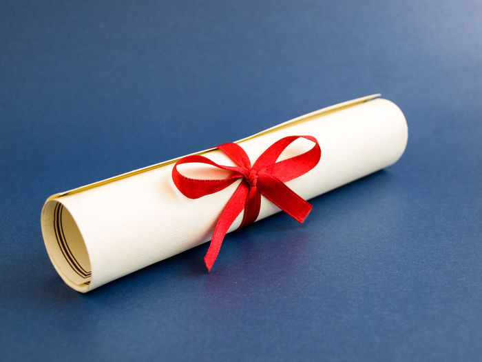 rolled diploma