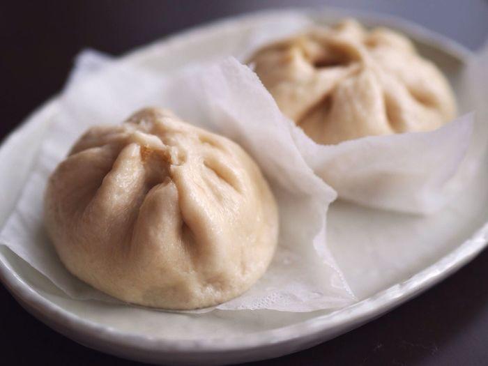 Close-up of dumplings in plate