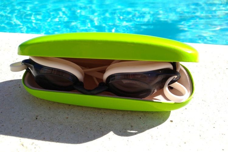 EyeEm Selects No Markings Swimming Goggles Summer Swimming Pool Water Sport No People Outdoors No People Day Green Color EyeEmNewHere