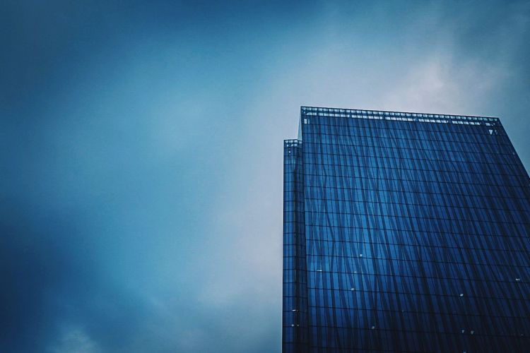 Against the Storm EyeEmNewHere Cityscape Architecture Built Structure Stormy Weather Glass Glass Building Reflection