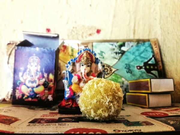Indoors  Art And Craft Close-up Toy Table Multi Colored No People Stuffed Toy Day God God's Beauty Ganesha Ganesh Idols