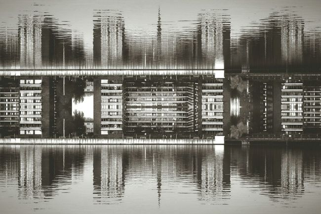 Reflection Water No People Outdoors AMPt_community My Fuckin Berlin EyeEm Masterclass Shootermag Eye4photography  EyeEm Best Edits Mirrored Abstract Urban Geometry Water Reflections Symmetrical Embrace Urban Life Welcome To Black The Architect - 2017 EyeEm Awards