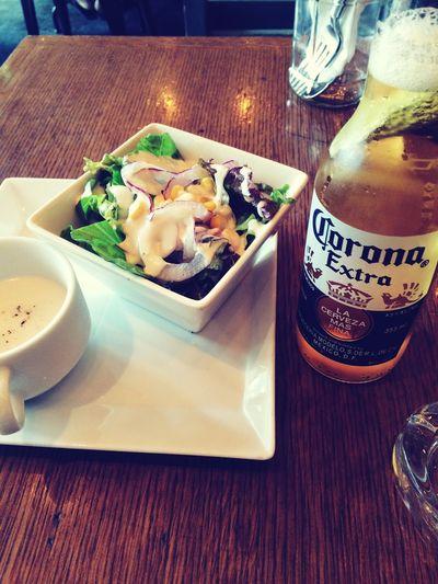 Lunch ランチ Japan 竹下通り サラダ ビール Salada Beer